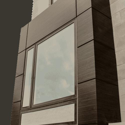 Phenolic Panels around a window