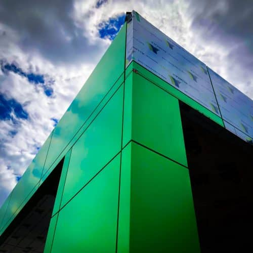 Green aluminum panels